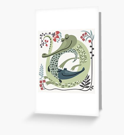 Crocodile love Greeting Card