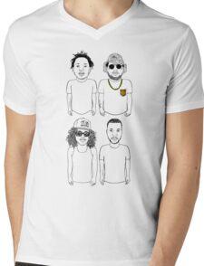 Black Hippy Mens V-Neck T-Shirt