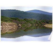 SCENES & SCENERY ~ GREEN ~ Reflections by tasmanianartist Poster