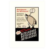 Beetlejuice Advertisement Art Print