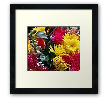 Pink and Yellow Bouquet Framed Print