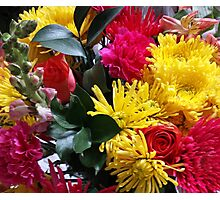 Pink and Yellow Bouquet Photographic Print