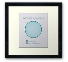 Everything is chemicals Framed Print