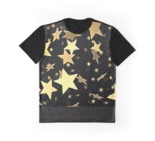 Black and Gold Star Merchandise Graphic T-Shirt