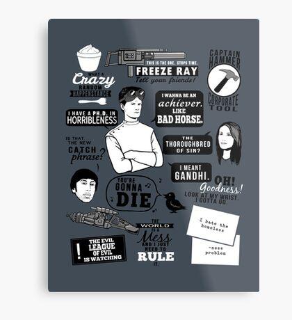 Horrible Quotes Metal Print