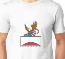 American Eagle Clutching Towing J Hook Flag Retro Unisex T-Shirt