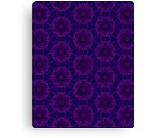 Purple Flower Tiles Canvas Print