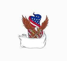 American Eagle Clutching Towing J Hook Flag Unfurled Drawing Unisex T-Shirt