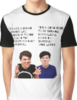 Dan and Phil quotes Graphic T-Shirt