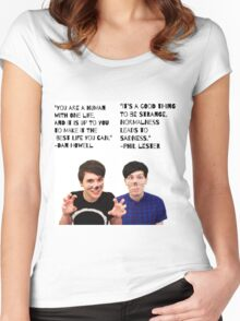 Dan and Phil quotes Women's Fitted Scoop T-Shirt
