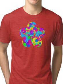 Crazy Colorful Circles Pattern Tri-blend T-Shirt