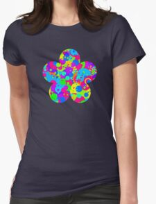 Crazy Colorful Circles Pattern Womens Fitted T-Shirt