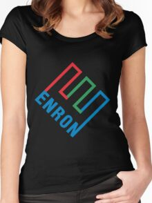 Enron Logo Women's Fitted Scoop T-Shirt