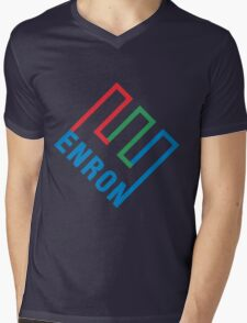 Enron Logo Mens V-Neck T-Shirt