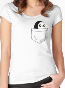 There's an evil penguin in my pocket! Women's Fitted Scoop T-Shirt