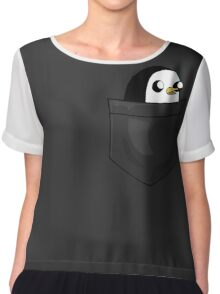There's an evil penguin in my pocket! Chiffon Top