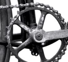 Old Bicycle Pedal Sprocket and Chain Sticker