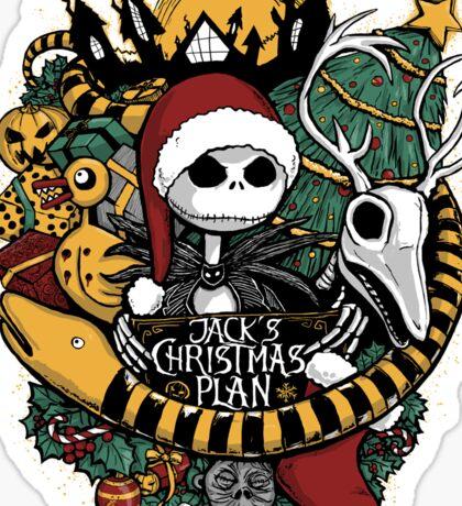 Jack's Christmas Plan Sticker