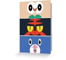 Pokemon Sun and Moon Starters Greeting Card