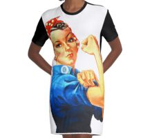 Rosie the Riveter  Graphic T-Shirt Dress