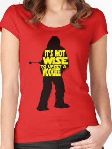 It's not wise to upset a wookiee Women's Fitted Scoop T-Shirt
