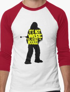 It's not wise to upset a wookiee Men's Baseball ¾ T-Shirt