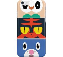 Pokemon Sun and Moon Starters iPhone Case/Skin