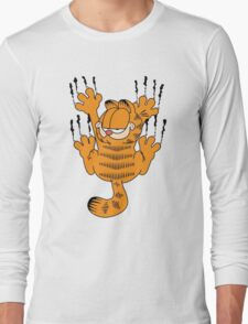 Funny Garfield Scratching Long Sleeve T-Shirt