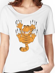 Funny Garfield Scratching Women's Relaxed Fit T-Shirt