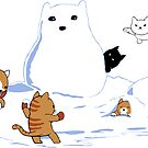 Snowcat STICKER by tyna