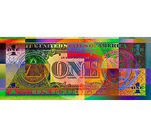 Pop-Art Colorized One U. S. Dollar Bill Reverse Photographic Print