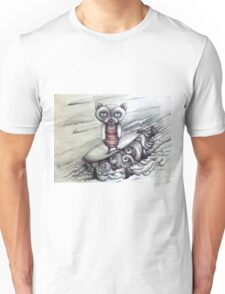 surfing grumpy cat art Unisex T-Shirt