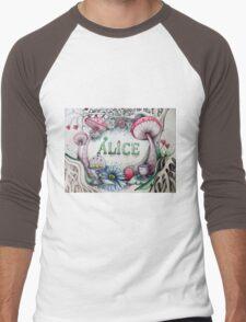 alice in the woods name sketch  Men's Baseball ¾ T-Shirt