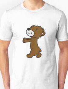 run go hug zombie sleepwalking hug funny sweet cute teddy bear Unisex T-Shirt