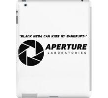 Portal 2 Cave Johnson Quote iPad Case/Skin