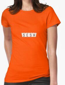 teamsesh white Womens Fitted T-Shirt