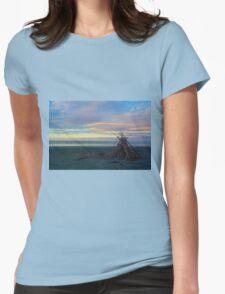 Beach Sculpture Womens Fitted T-Shirt