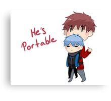 He's portable Canvas Print