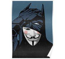 V for Batman Poster