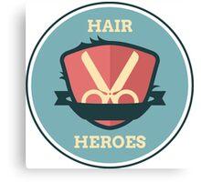Hair Heroes Emblem Canvas Print
