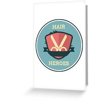 Hair Heroes Emblem Greeting Card