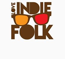 LOVE INDIE FOLK (with hipster glasses) Womens Fitted T-Shirt