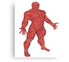 the Muscle Man Medical Model Canvas Print