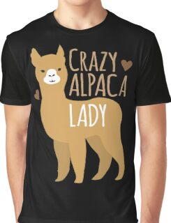Crazy Alpaca Lady Graphic T-Shirt