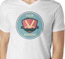Hair Heroes Emblem Mens V-Neck T-Shirt