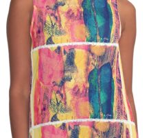Silky Abstract Contrast Tank