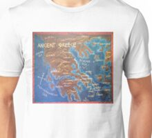 Map of Ancient Greece Unisex T-Shirt