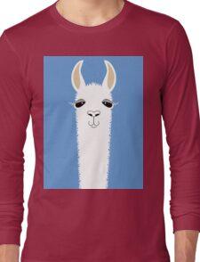 LLAMA PORTRAIT #4 Long Sleeve T-Shirt