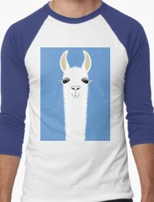 LLAMA PORTRAIT #4 Men's Baseball ¾ T-Shirt