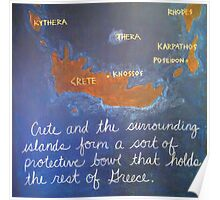 Crete and Surrounding Islands Poster
